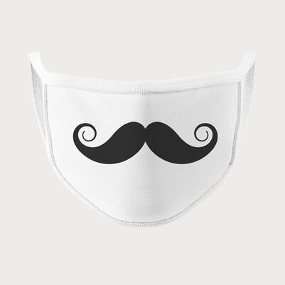 Bıyık Tasarımlı Yıkanabilir Maske - Thumbnail