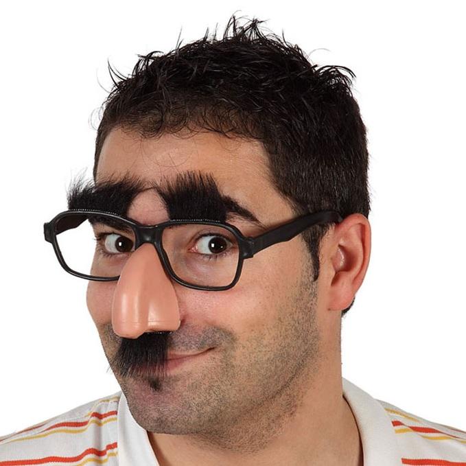 Bıyık ve Burunlu Parti Gözlüğü