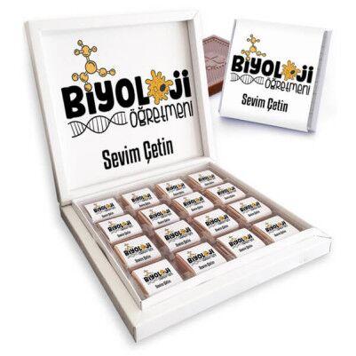 - Biyoloji Öğretmenine Hediye Çikolata Kutusu