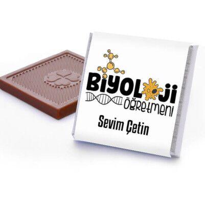 Biyoloji Öğretmenine Hediye Çikolata Kutusu - Thumbnail