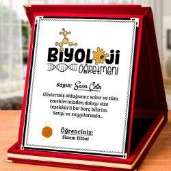 - Biyoloji Öğretmenine Hediye Plaket