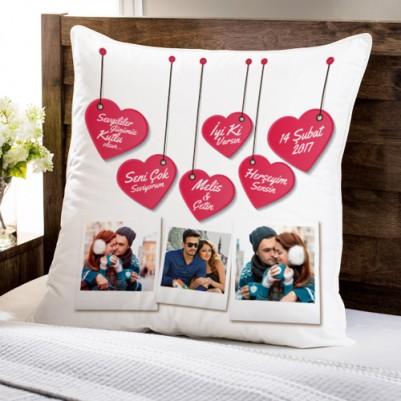 - Bizim Güzel Aşkımız Fotoğraflı Yastık