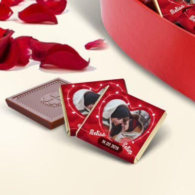 Bizim Güzel Aşkımız Kalp Kutuda Çikolatalar - Thumbnail