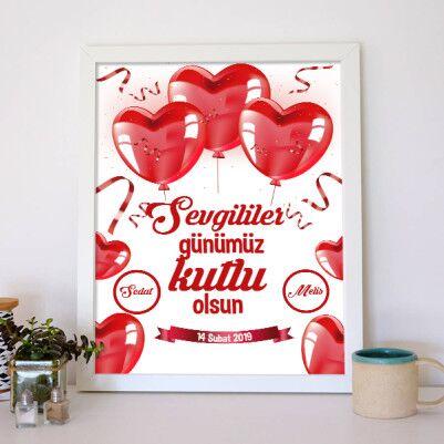 Bizim Sevgililer Günümüz Kişiye Özel Poster - Thumbnail