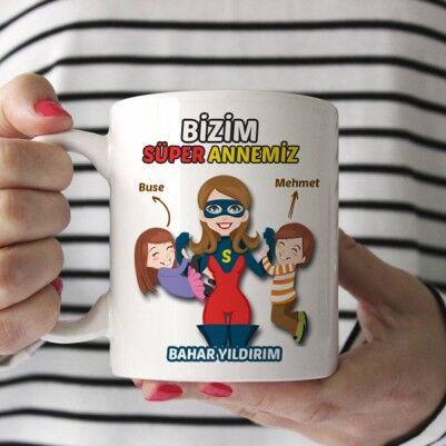 Bizim Süper Annemiz Kupa Bardak - Thumbnail