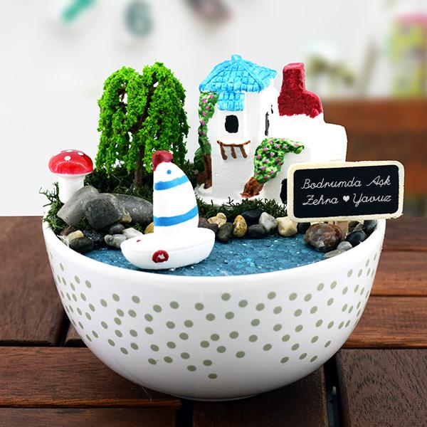 Bodrumda Aşk Başkadır Minyatür Bahçe Hediyemencom