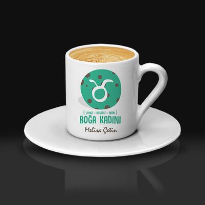 Boğa Burcu Kadınına Hediye Kahve Fincanı - Thumbnail