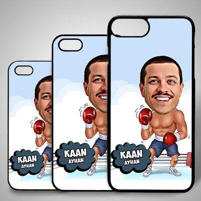 - Boksör Karikatürlü Iphone Kapak