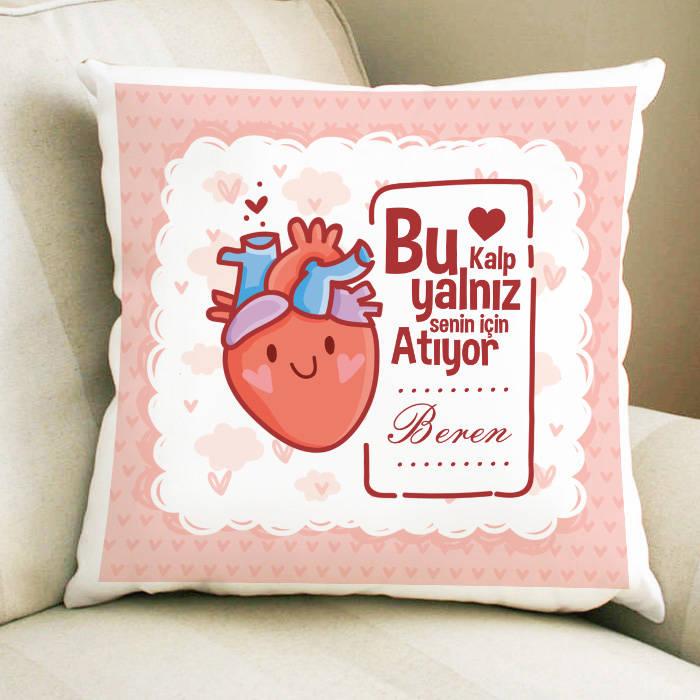 Bu Kalp Senin İçin Atıyor Yastık