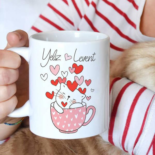 Bu Kedicik Seni Seviyoo Kupa Bardak