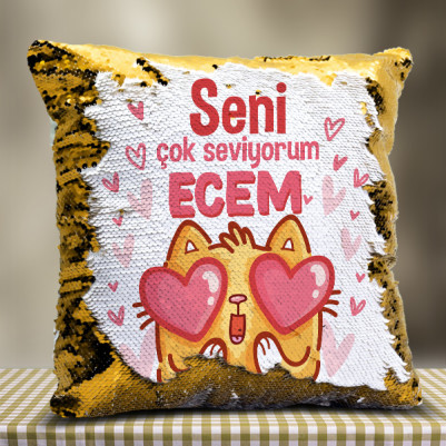 - Bu Kedicik Seni Seviyoo Sihirli Yastık