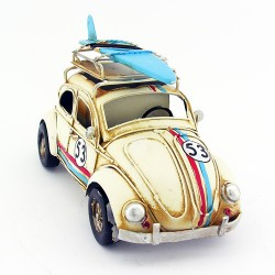 - Büyük Boy Nostaljik Vosvos Metal Araba Bej