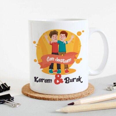 - Can Dostum İsme Özel Kahve Kupası