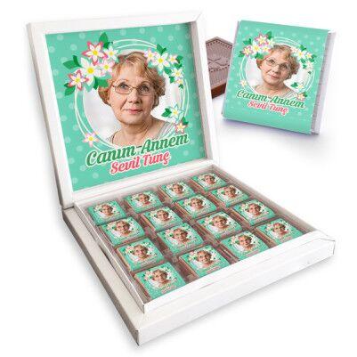 - Canım Annem Fotoğraflı Çikolata Kutusu
