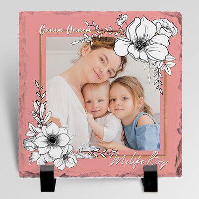- Canım Annemiz Fotoğraflı Taş Blok