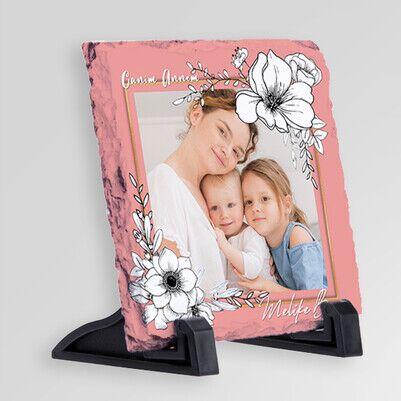 Canım Annemiz Fotoğraflı Taş Blok - Thumbnail