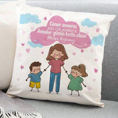 Canım Annemiz Mesajlı Yastık - Thumbnail