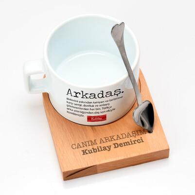 Canım Arkadaşım Lüks Çay Fincanı - Thumbnail