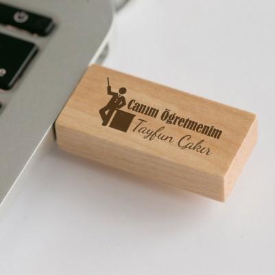 Canım Öğretmenim Ahşap USB Bellek - Thumbnail