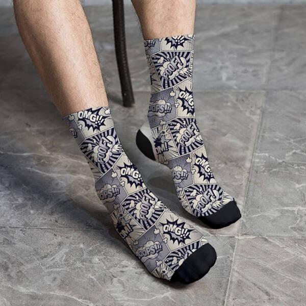 Cartoon Tasarımlı İlginç Çorap
