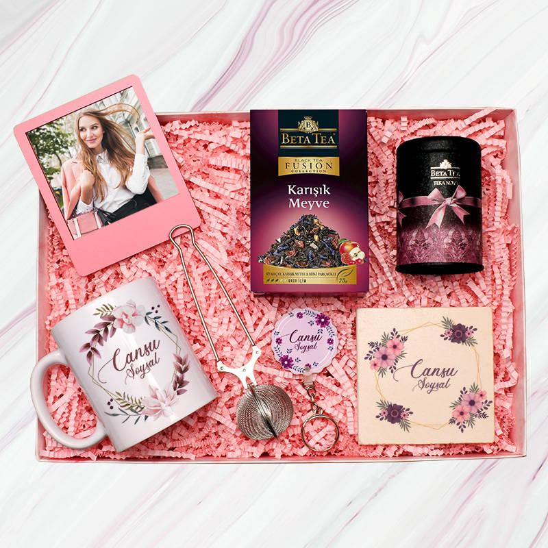 Çay Tiryakisi Bayanlara Özel Hediye Kutusu