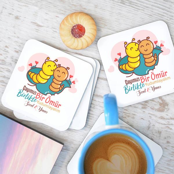 Çayımızı Bir Ömür Birlikte Yudumlayalım Bardak Altlığı