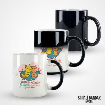 Çayımızı Birlikte Yudumlayalım Kupa Bardak - Thumbnail