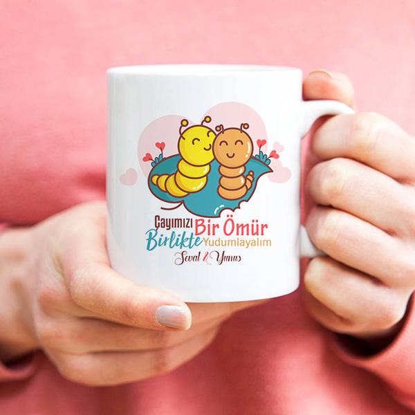 Çayımızı Birlikte Yudumlayalım Kupa Bardak