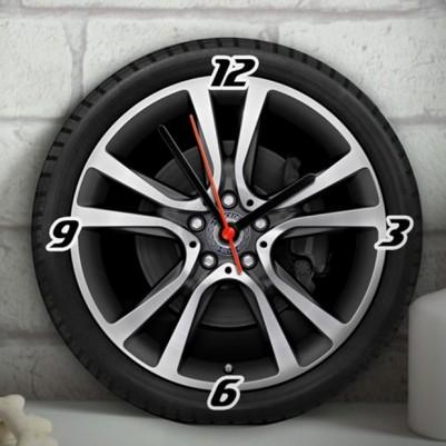 Çelik Jant ve Tekerlek Tasarımlı Duvar Saati - Thumbnail