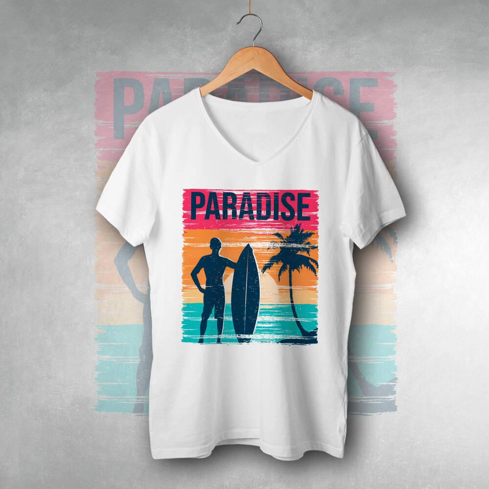 Cennet Tatil Baskılı Tişört
