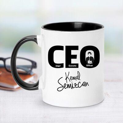 - CEO İçin Siyah Kupa Bardak