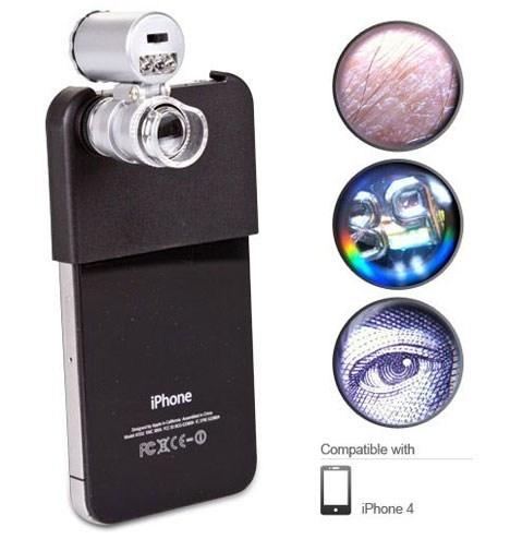 Cep Telefonları için Mini Mikroskop - 60x Zoom