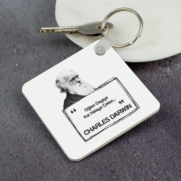 Charles Darwin Esprili Anahtarlık