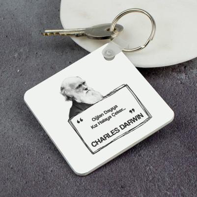 - Charles Darwin Esprili Anahtarlık