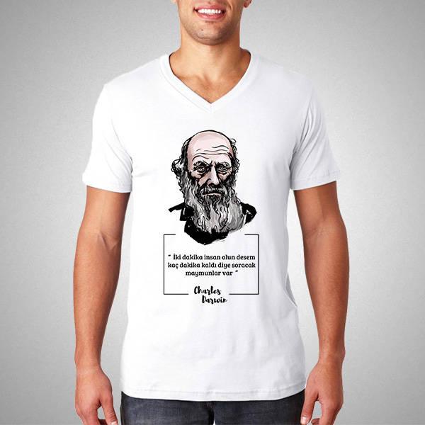 Charles Darwin Esprili Tişört