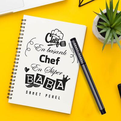 - Chef Babalara Özel Defter ve Kalem