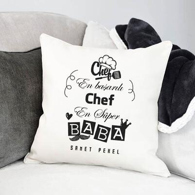- Chef Babalara Özel Mesleki Yastık