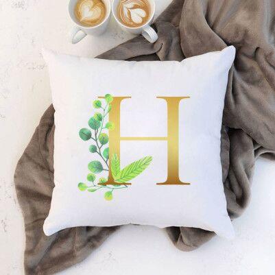 Çiçek Desenli Harfli Yastık - Thumbnail