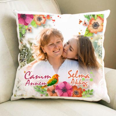 - Çiçek Motifli Anne Yastığı