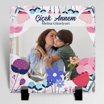 Çiçekler Kadar Güzel Annem Taş Blok - Thumbnail