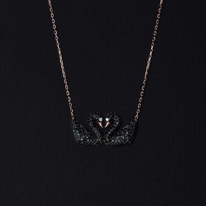 - Çifte Kuğular 925 Ayar Gümüş Kolye