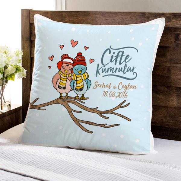 Çifte Kumrular Sevgili Yastığı
