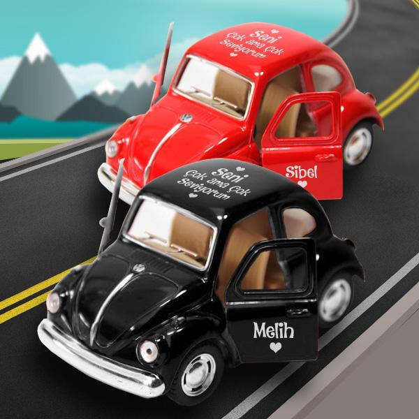 Çiftler İçin Kırmızı Siyah Vosvos Araba
