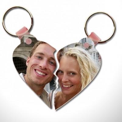 - Çiftlere Özel Fotoğraflı Kalp Anahtarlık