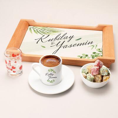 - Çiftlere Özel İsimli Damat Kahve Sunum Seti