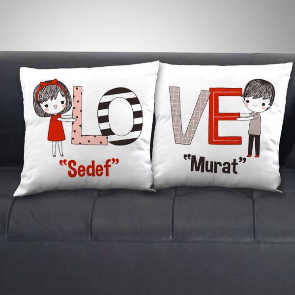 Çiftlere Özel Love Sevgili Yastığı