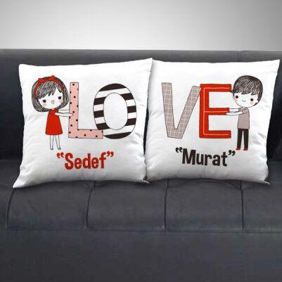 - Çiftlere Özel Love Sevgili Yastığı