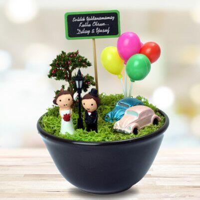 Çiftlere Özel Romantik Minyatür Bahçe - Thumbnail