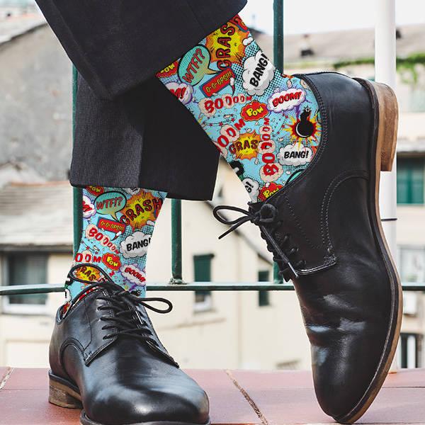 Çizgi Roman Konuşma Balonlu Çorap