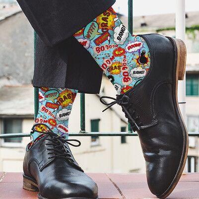 - Çizgi Roman Konuşma Balonlu Çorap